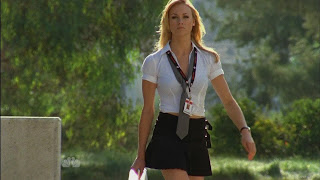 Yvonne Strahovsk as a Buy More nerd