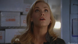 Yvonne Strahovski looking up