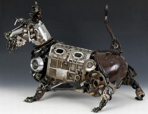 11 amazing Sculptures made By Car Parts 6