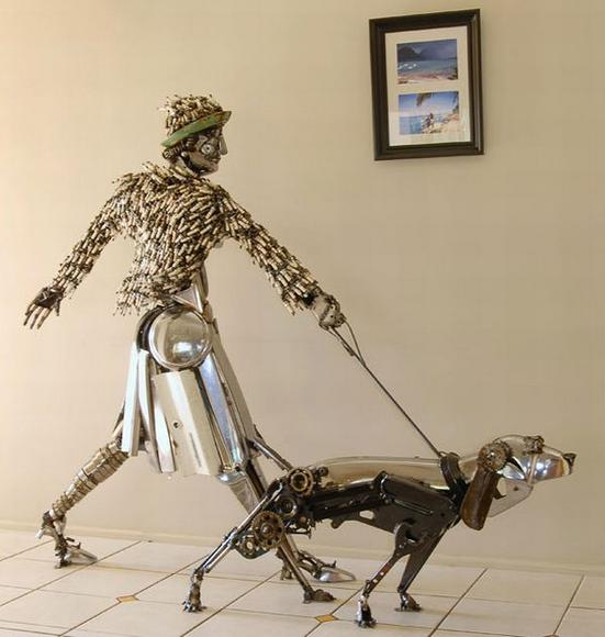11 amazing Sculptures made By Car Parts 1