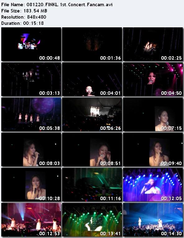 [081220] FINKL - 1st Concert [183M/avi] 081220FINKL1stConcertFancam