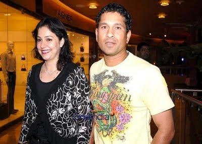 Sachin Tendulkar and Anjali Tendulkar