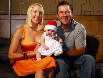 Ricky Ponting, wife and daughter Emmy photos