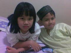 my twins(sabrina & faizul)