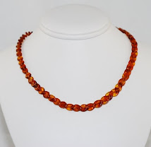 Adult amber healing necklace