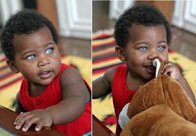 Black+Baby+Boy+With+Blue+Eyes