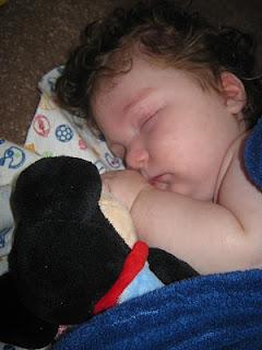 baby Mason sleeping