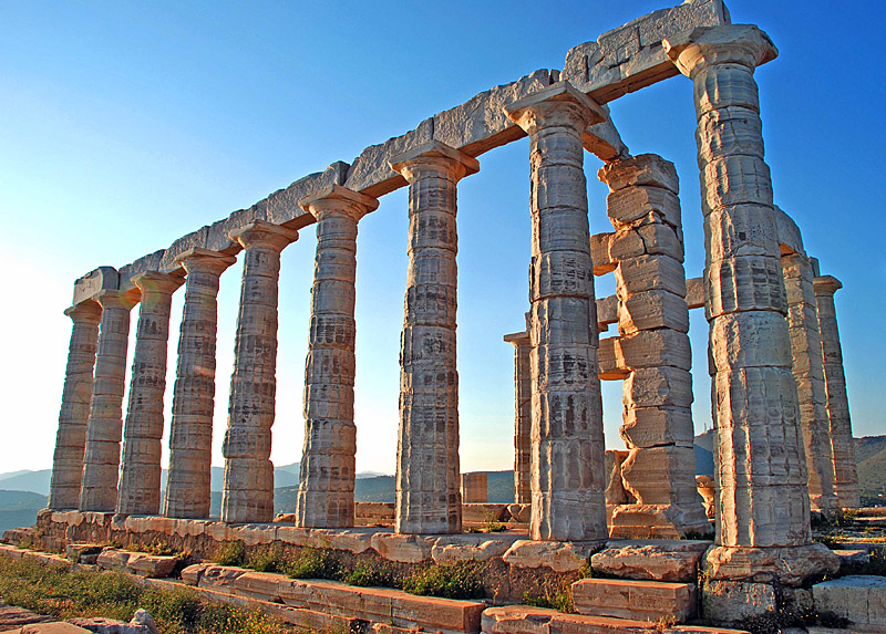 hellenic period: Temple of Poseidon at Sounion