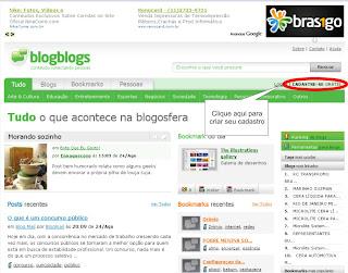 Como criar conta no Blogblogs - Logando