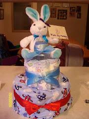 Bunny Baby Diaper Cake