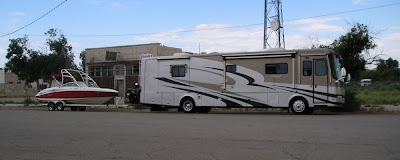 I USA rejser amerikanerne i kæmpestore autocamper motorhome
