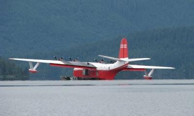 Mars Bomber flyvemaskine på Spruce Lake, Vancouver Island, Canada
