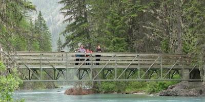 Berg Lake Trail i Mount Robson provincial Park, British Columbia, Canada