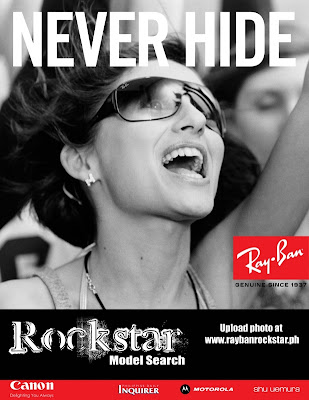 Ray Ban Model Search rockstar contest philippines