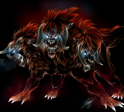 Cerberus Greek mythology or can't Cerberos is a guardian of the gate
