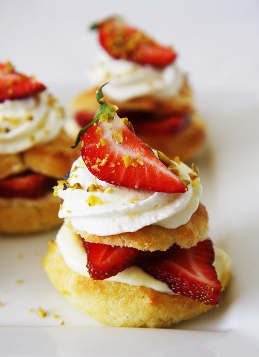 Gourmet Baking: Strawberry Cream Puffs with Grand Marnier Custard ...
