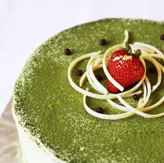 Gourmet Baking: Green Tea Ice Cream Cake