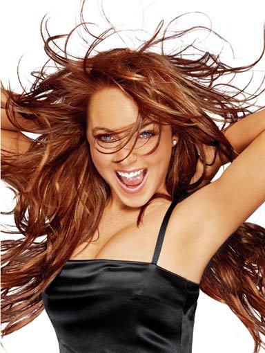 Lindsay Lohan today.