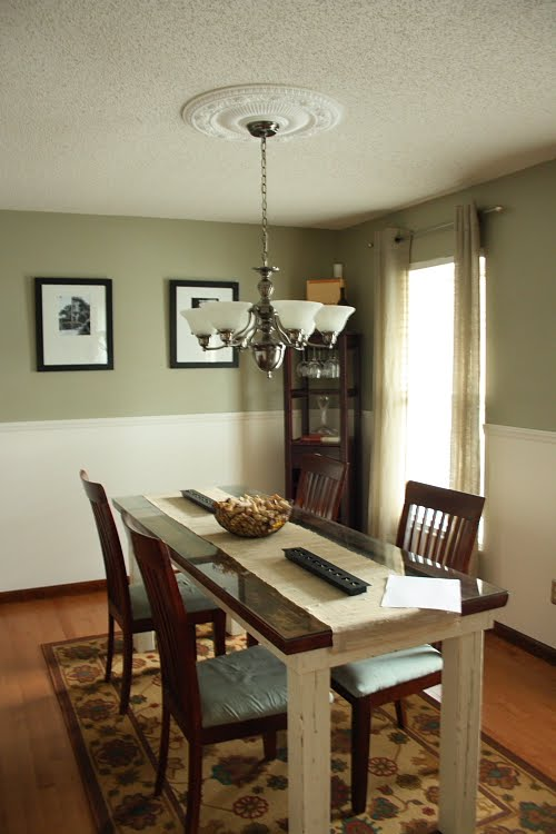 Green Dining Room Paint Colors with Chair Rail