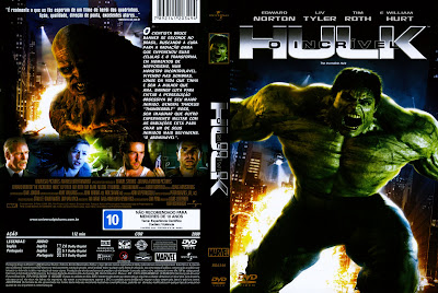 capa de DVD do filme O Incrivel Hulk