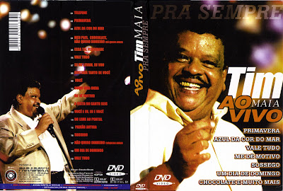 capa de DVD do filme Tim Maia - Ao Vivo