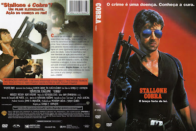 capa de DVD do filme Stallone Cobra