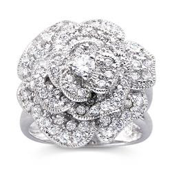 Catch the Bouquet White CZ Ring