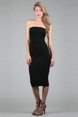 Tube Dress in Black