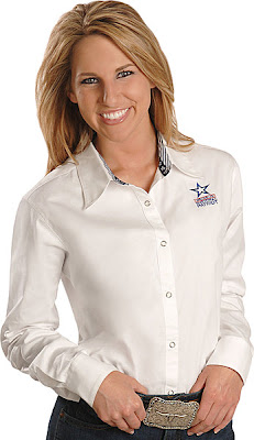 Wrangler National Patriot Solid White Western Shirt