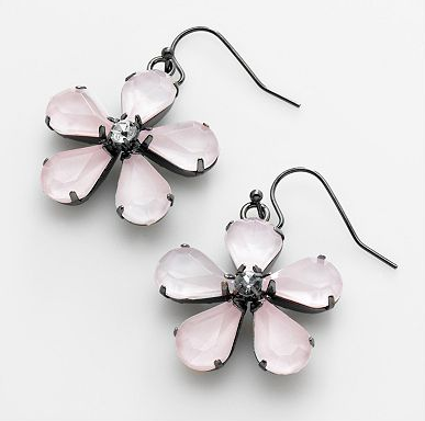 Simply Vera Vera Wang Jet-Tone Floral Drop Earrings