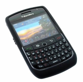 Kroo Black Skin Case for Blackberry Curve 8900