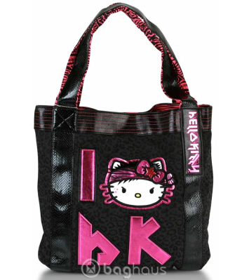 You and Hello Kitty head off to school in cool casual style with this fun