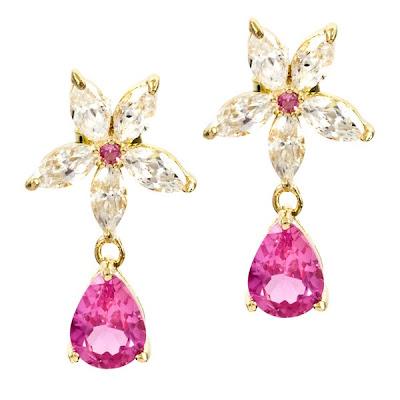 Maybell's Flower Pear Drop Earrings