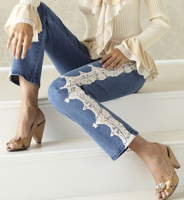 Lace Trim Jean