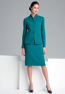 Classic MultiButton Skirt Suit