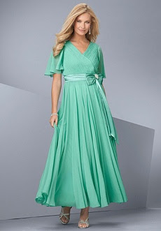 Flutter sleeve gown