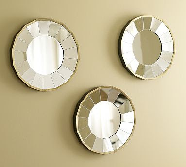 Rhona Round Gilt Mirrors, Set of 3