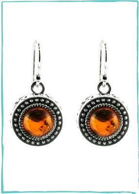 Round Amber Earrings