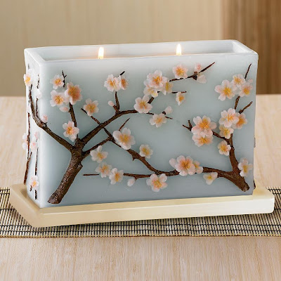 Cherry blossoms candle