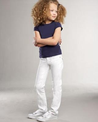 Julie Straight-Leg Jeans, White