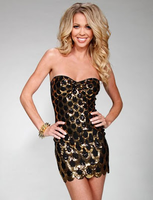 Sequin Scallop Bandeau Mini Dress