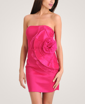 Chiffon Rosette Dress