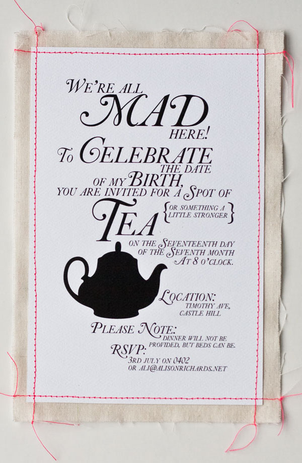 Super Punch Tea Party Invitation – Invitation to Tea Party