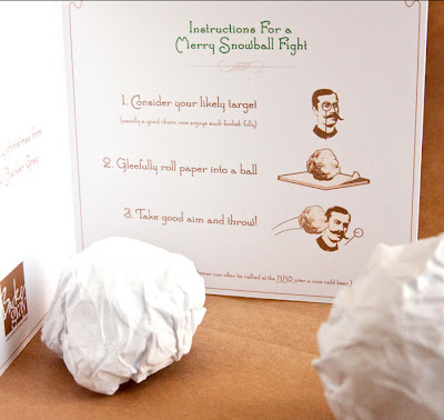 Office snowball fight kit
