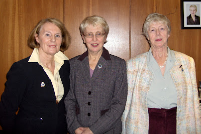 From Left to Right Past Captain Janet Dow, Captain Gillian Beattie and Vice Captain Gladys Speedie --- Click to enlarge