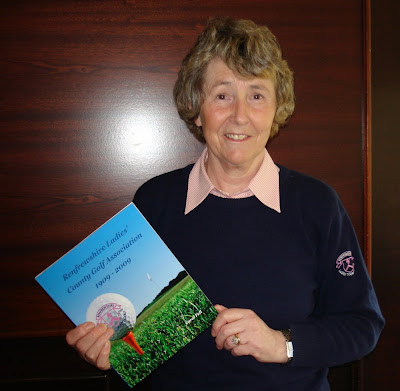 Carol Fell with the RLCGA Centenary Book - Click to enlarge