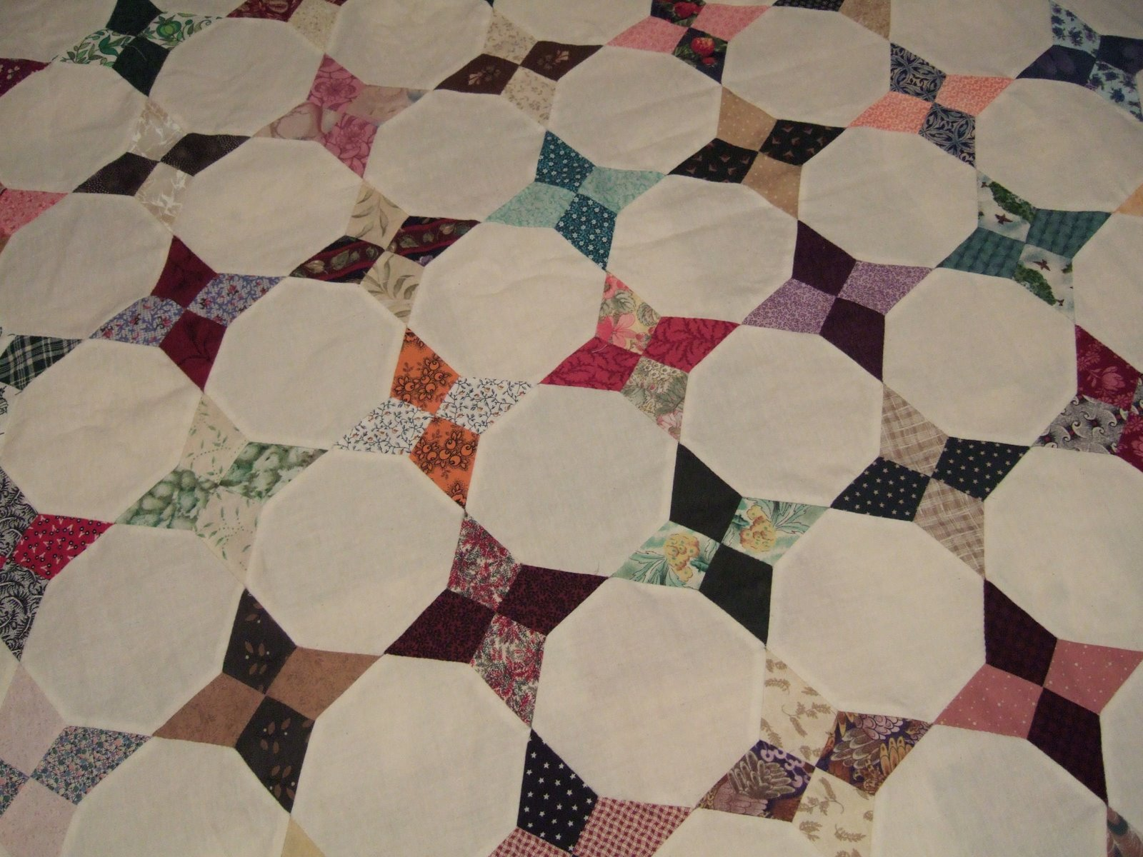 Octagon Quilting Templates : Flourishing Palms: Hand Piecing