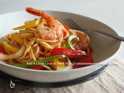 Shrimp and Pepper Spaghetti
