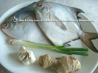 traditional style braised fish --silver pomfret