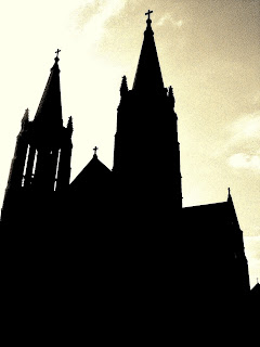 Cicero church twin steeples